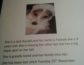 lost since 25th November