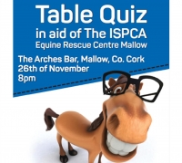 The ISPCA are holding a Table Quiz in Mallow