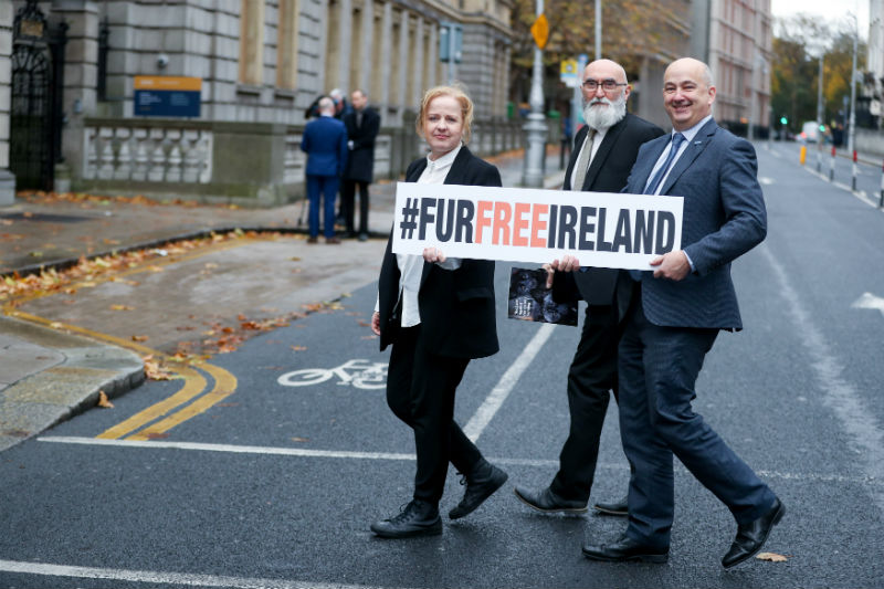 Ruth Coppinger TD, Mark Glover and ISPCA CEO Dr Andrew Kelly